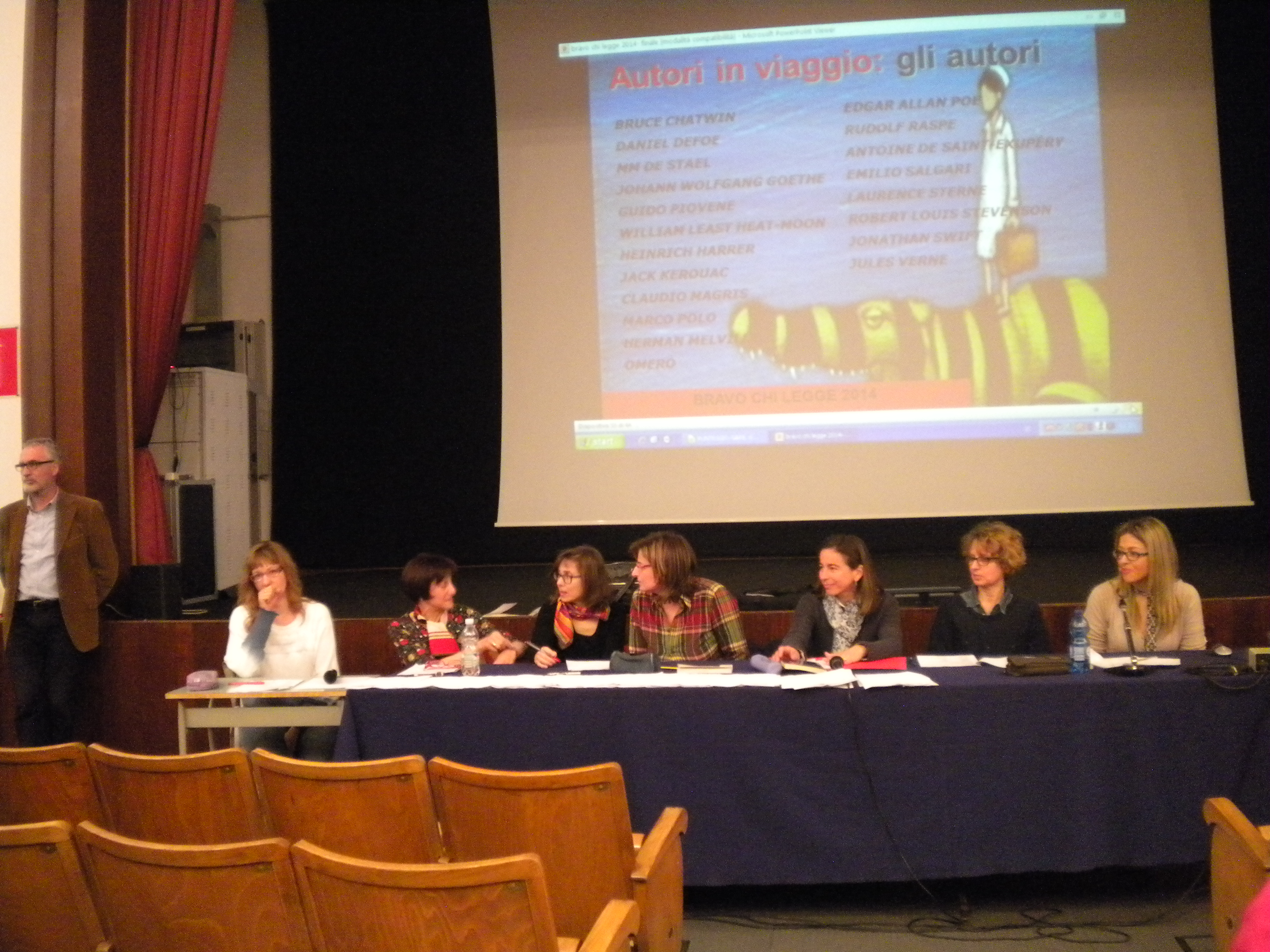 L'incorruttibile giuria: Francesca, Rossella, Lucia, Chiara, Federica, Francesca, Lucia